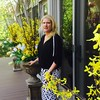 Tiptoe through the tulips...<br /> For a chilly spring night, Dacey wears a black top from Jennifer Lopez with bell sleeves and embedded silver chains on the shoulders, and makes a statement in this sleek, leopard-print pencil skirt falling below the knee. Finishing her look is an open-toed pair of patent leather Jimmy Choos. All the actresses dressed in long flowery sundresses, cocktail dresses and snazzy pants suits, with spring shawls and scarfs of every color. We certainly all dressed for the part!