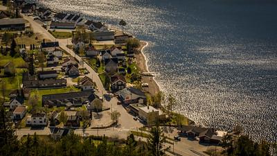Strandgata  i Byglandsfjord Sentrum