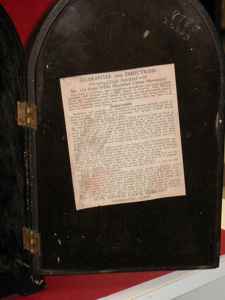 Back door with label