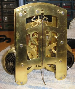 Back of assembled movement