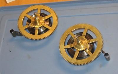 The mainwheels with mainsprings