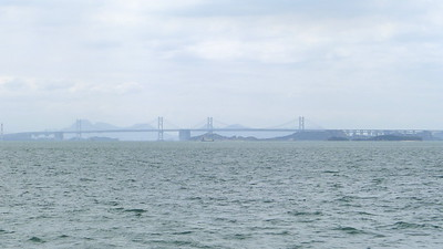 Shimotsui-Seto Bridge - A suspension bridge with a centre span of 940 metres which connects Honshū with the island of Hitsuishijima