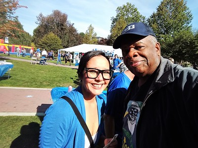 20171020 Gregory Burrus w Mayor Sheena Collum at Stronger Tomorrow Wellness on Seton Hall Campus