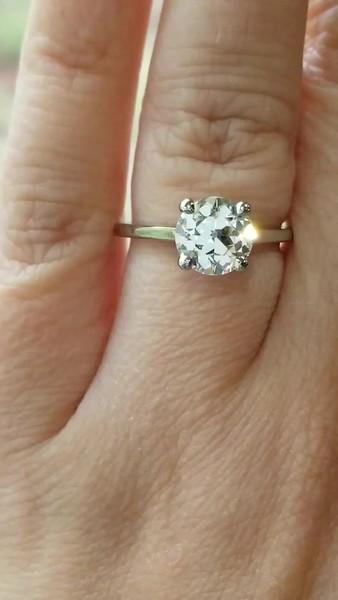 1.71ct Old European Cut Diamond in Stuller 122969