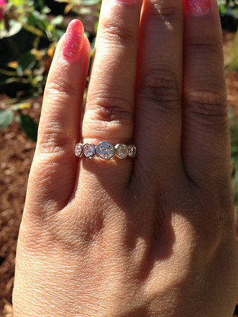 1.38ctw Old European Cut Diamond 5-Stone Band in Sholdt R-560
