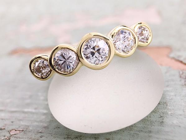 1.11ctw OEC Diamond Five Stone Band by Sholdt