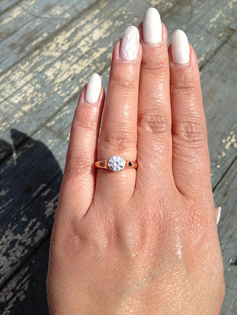R379 - Shown with 1ct Center Stone in Rose Gold