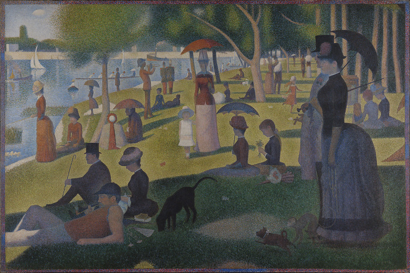 "Inceptionist Impression of Georges Seurat's ""A Sunday on La Grande Jatte"""