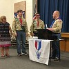 Townsend's Adam Chidester (second from left) and Benjamin Chidester (second from right), both 18, officially became Eagle Scouts at their Court of Honor on Saturday with their mother Laura (left) looking on. (Photo courtesy of Chidester family)