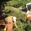 Townsend's Benjamin Chidester (left), 18,  clearing the Squannacook Rail Trail to improve its accessibility for his Eagle Scout project. Last weekend, Benjamin and his twin brother Adam became the sixth and seventh Chidester brothers to achieve the rank of Eagle Scout. (Photo courtesy of Laura Chidester)