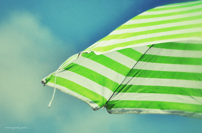 beach umbrella on Craigville Beach in Centerville....