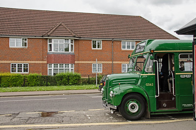 GS62 in London road, Dunton Green. The flats have been built on the site of Dunton Green bus garage.