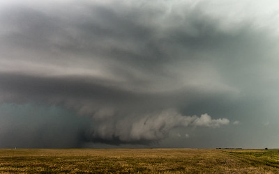 Supercell near Grandview, Oklahoma.