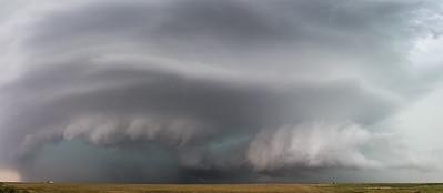 Supercell near Grandview, Oklahoma.