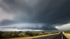 Supercell NW of Freer, Texas.
