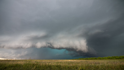 Supercell storm near Brownwood, Texas.