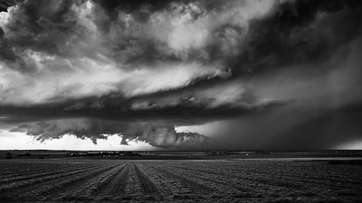 Supercell storm near Lamar Colorado, June 2015