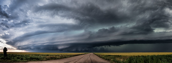 Supercell storm near Springfield Colorado, June 2015