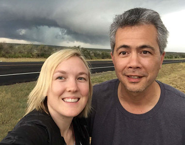With Lexi at Freer, Texas supercell.