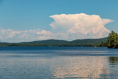 Towering cumulonimbus cloud over Raquette Lake