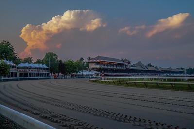 Cumulonimbus Cloud over Saratoga Race Track