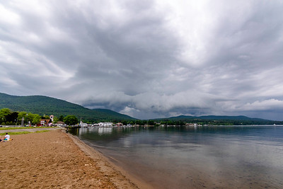 Approaching thunderstorm over Lake George