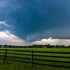 Shelf cloud approaching Saratoga