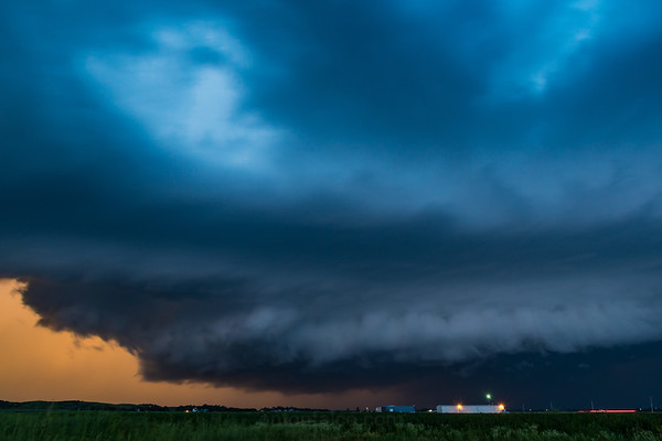 Incredible Sunset Lit Shelf Cloud
