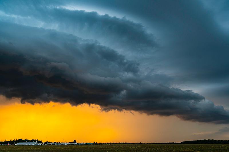 June 29th. Wyoming, Ontario Shelf Cloud