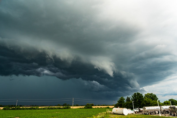 Burford, Ontario Shelf Cloud. July 26th, 2018