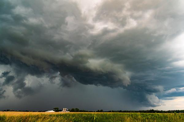 Ragged Clouds. July 26th, 2018. Burford, Ontario