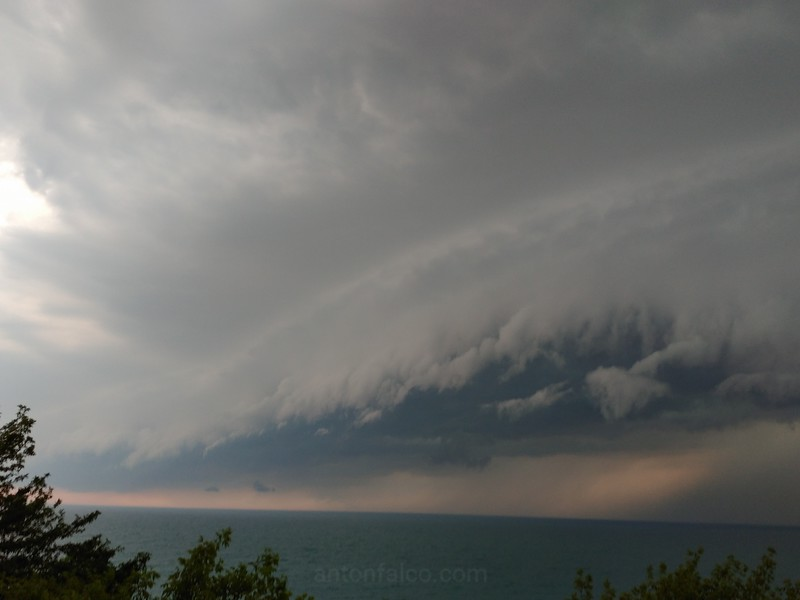 Nasty Shelf Cloud By Grand Bend, Ontario