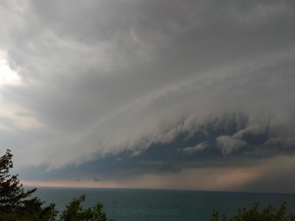 Nasty Shelf Cloud By Grand Bend, Ontario