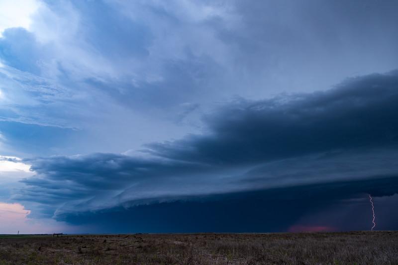 Lightning In Shelf Cloud