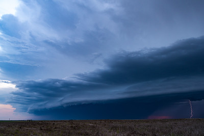 Lightning In Shelf Cloud