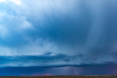 Sunset, Lightning, Shelf Cloud and Cloud Motion