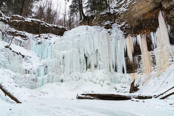 Frozen Tiffany Falls