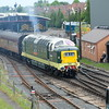 D 9002 opens up to reach Kidderminster at Severn Valley Diesel Gala 2016