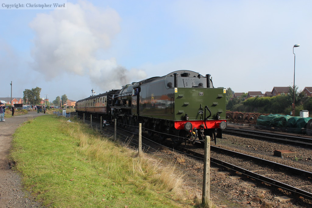 46100 gets the train away from Kidderminster