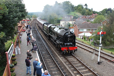 Royal Scot runs in with the LMS stock, a wonderful combination