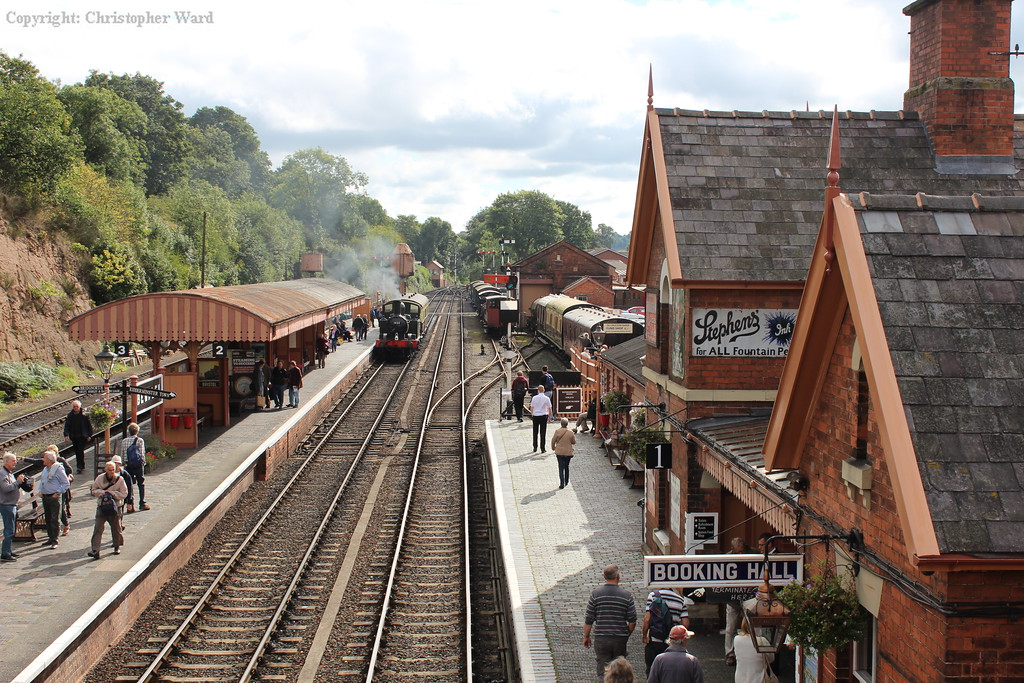 The auto-train lost in the large station environs of Bewdley