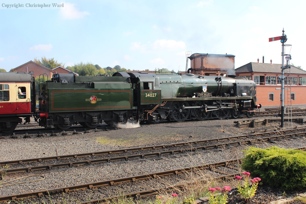 34027 pulls away from Kidderminster with another Bridgnorth train