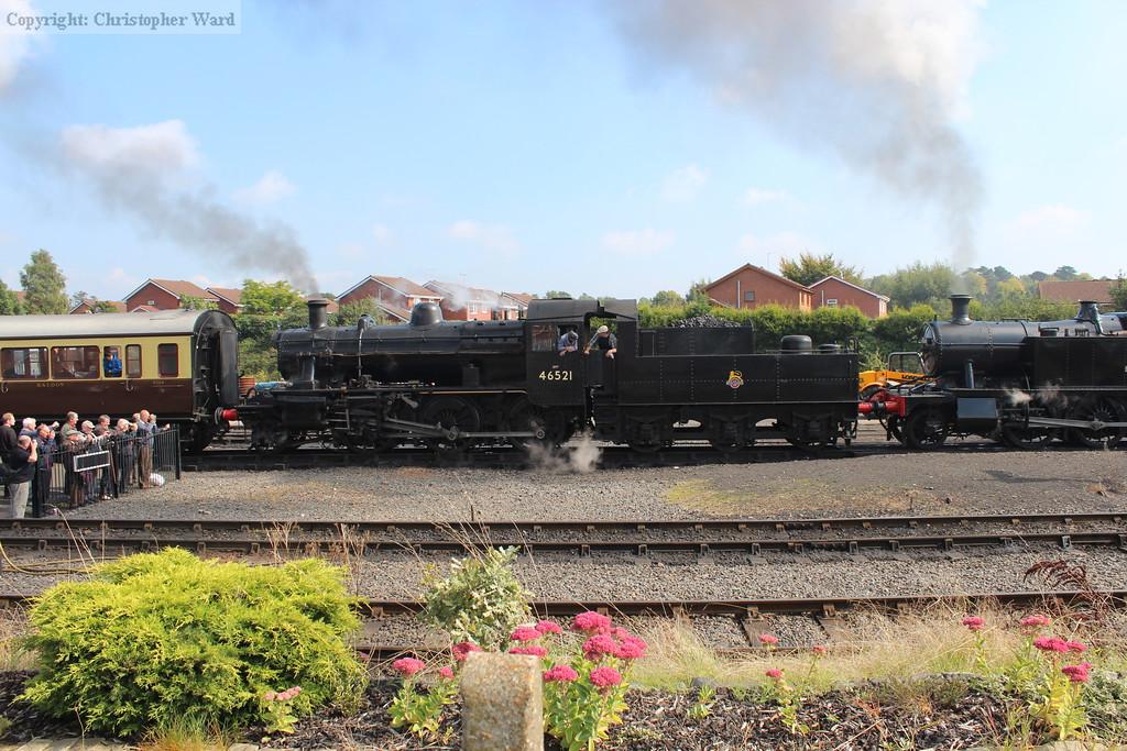 46521 back on the SVR and preparing to depart Kidderminster