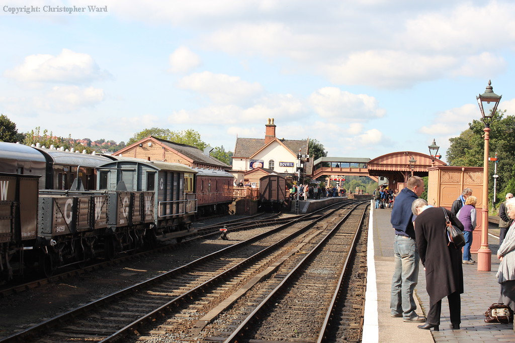 The stock from the demonstration freight rests at Bewdley