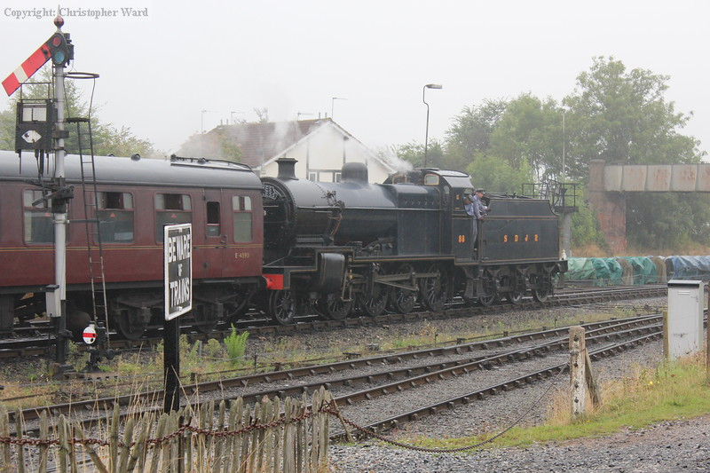 A spot of shunting for the big freight engine