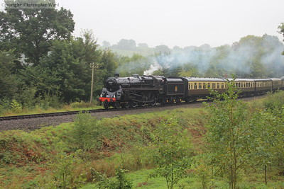 73129 approaches Highley from the south