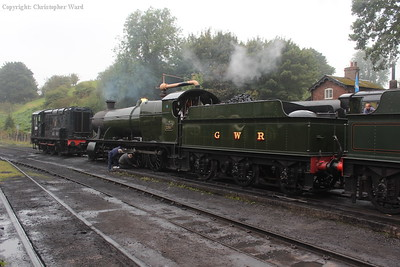 2857 receives some attention in the yard