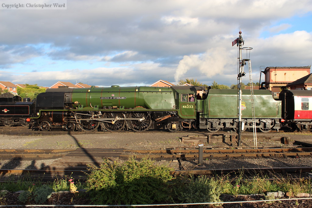 Duchess of Sutherland draws in at the end of another completed trip