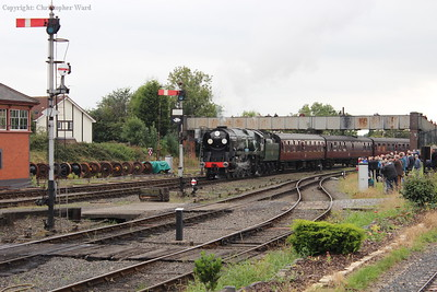 The Bulleid returns from Bridgnorth