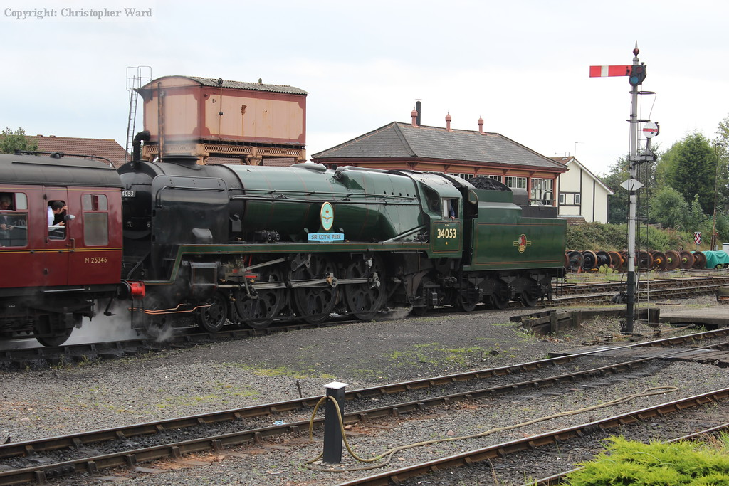 34053 gets underway once more